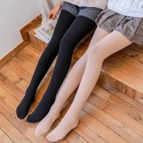 春秋女士丝袜裤连腿踩脚防勾丝高弹滑黑肤色120d