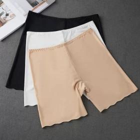 夏季安全裤冰丝女士大码保险裤清凉防走光打底可外穿无