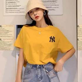 短袖韩版白色纯棉T恤女小雏菊2021年新款网红同款