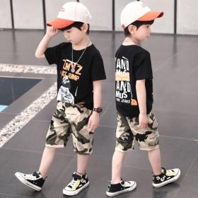 男童纯棉夏装新款儿童装男小孩子短袖t恤衣服网红洋气