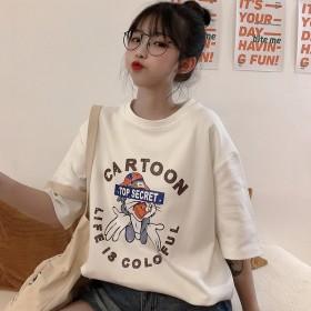 短袖棉体恤女2021夏季新款韩版套头超火宽松学生