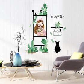 植物墙贴画ins贴纸卧室装饰