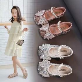 女童皮鞋儿童单鞋2021款春季新款儿童鞋韩版女童
