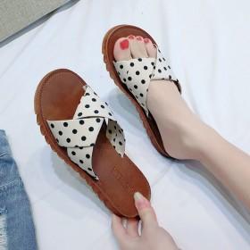 软底拖鞋女夏时尚外穿牛筋底凉拖一字拖平底韩版防滑沙