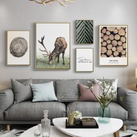 客厅装饰画现代简约大气墙面壁画北欧风格沙发背景墙轻