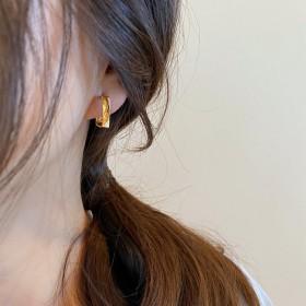 925银针欧美时尚耳环几何金属耳圈时尚耳坠