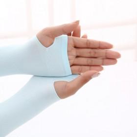 韩版冰丝冰袖女士防晒袖套男士户外骑行针织手臂套袖