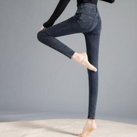 春款牛仔裤高腰弹力