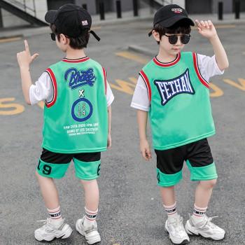男童速干篮球服运动短袖