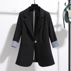 小西装外套女2021年春夏季新款韩版修身垂感薄款