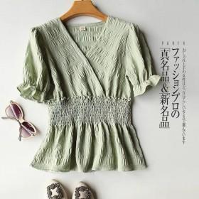 雪纺衬衫女款收腰显瘦设计感小众超仙甜美娃娃衫百搭洋
