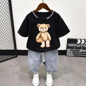 3岁潮童装男童套装夏季5帅气2021年新款潮7短袖