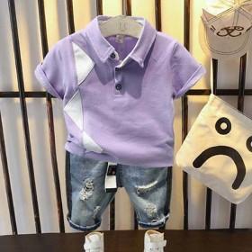 7岁男童夏装套装帅气2021新款潮童装5儿童pol