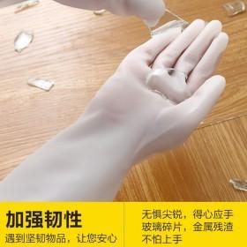 厨房家用洗碗手套女洗衣服洗碗神器家务橡胶防水耐用胶