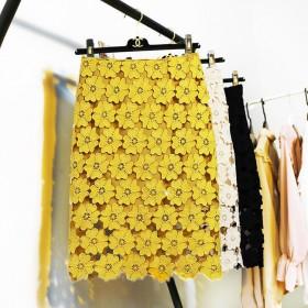 新款蕾丝半身裙夏镂空中长款修身包臀气质高腰一步裙