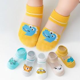 5双夏季儿童袜子薄款棉袜璃丝童袜宝宝袜透气网袜