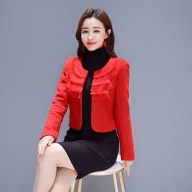 小香风50%羊毛呢外套女装小个子短外套