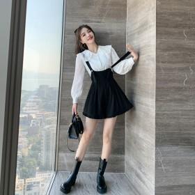 减龄时尚两件套女2021年春季新款百搭修身甜美气质