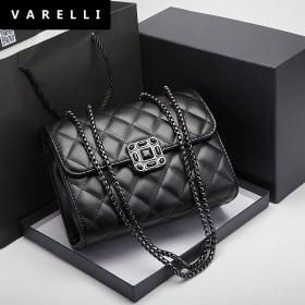 VARELLI2021新款ins小包包潮时尚菱形包