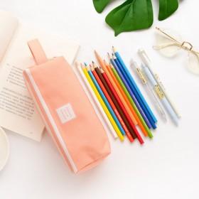 创意帆布大容量笔袋小学生双层简约多功能铅笔盒文具盒