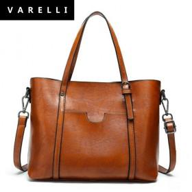 复古VARELLI2021新款时尚水桶包