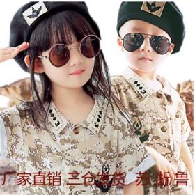 太阳的后裔宋仲基同款童装短袖小军装儿童迷彩服军