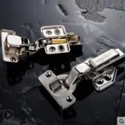 不锈钢橱柜门铰链飞机弹簧合页衣柜五金阻尼液压缓冲折