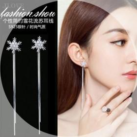 限时特价s925银针两用夏季流苏长款耳线