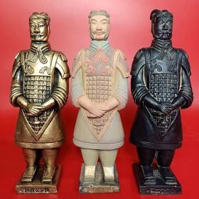 兵马俑摆件纪念品套装25cm西安秦俑仿古纯手工艺品