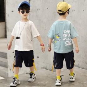 男童套装夏季潮帅气时髦2021年新款网红儿童夏装