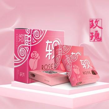 玫瑰味软巧克力120g(2盒装)重瓣玫瑰花可可脂
