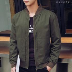 男士外套2021春秋新款 大码韩版帅气青年休闲夹克