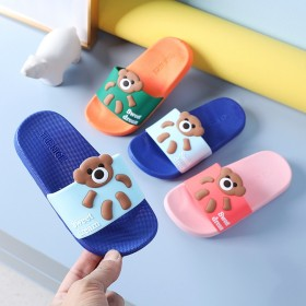 2021新款夏季儿童凉拖鞋卡通软底防滑糖果色凉拖小