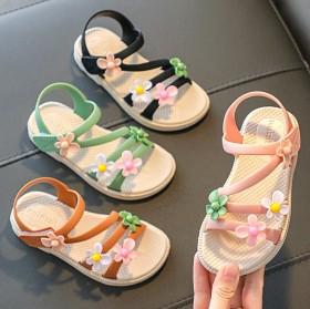 2021新款儿童凉鞋女童公主鞋软底儿童沙滩鞋小中童
