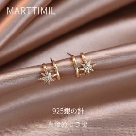 八芒星耳环2021年新款潮女冷淡风韩国气质高级感耳