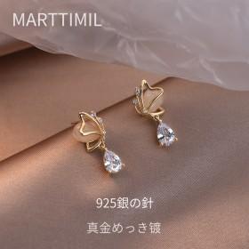 耳环2021年新款潮女韩国气质蝴蝶耳坠高级感时尚耳