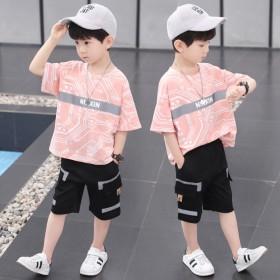 男大童套装夏夏季2021新款10儿童超洋气8运动短
