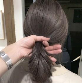 2021染发剂流行色显白奶茶灰粽紫灰色染发膏女