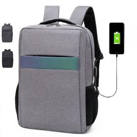 双肩包电脑包商务包休闲包防水USB反光背包书包男女