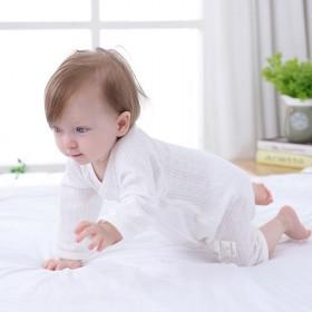 婴儿连体衣夏季薄款长袖哈衣