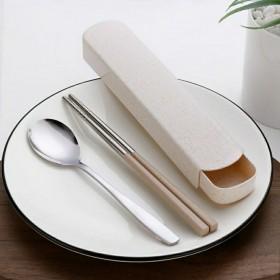 不要用优惠券特惠三件套便携不锈钢餐具套餐勺子筷子