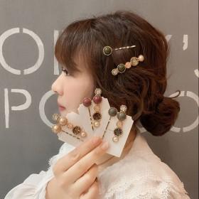 珍珠发夹韩国网红夹子简约气质一字夹头饰刘海发卡