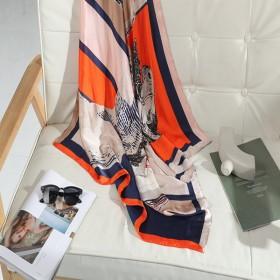 2021新款丝巾气质女百搭春秋大方巾韩版披肩领巾