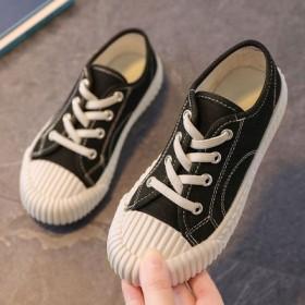 儿童帆布鞋2021春秋款女童布鞋透气休闲鞋男童一脚