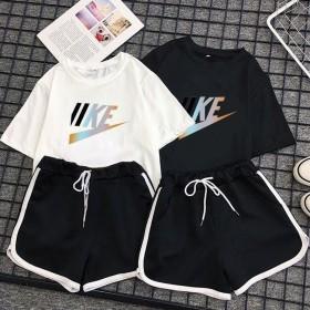 两件套套装女2020夏季新款ins小雏菊学生短袖T