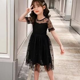 女童连衣裙夏装2021新款儿童韩版波点洋气公主裙