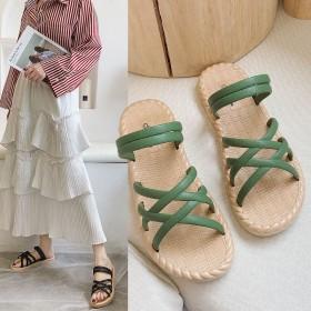 凉拖鞋女外2020新款夏季时尚百搭平底两穿网红罗马