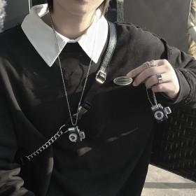 闪光小相机项链可发声男女情侣挂件