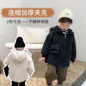 儿童韩版秋冬外套洋气棉服加厚棉衣儿童帅气百搭棉袄潮