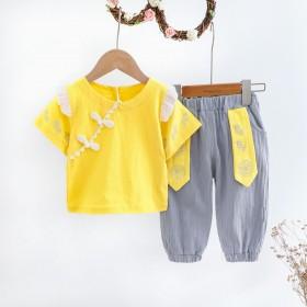 2021汉服女童套装薄款纯棉礼服两件套可爱民族风